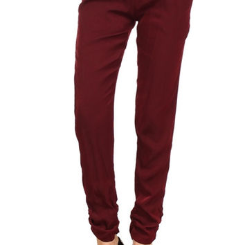 Burgundy Harem Pants