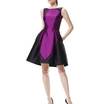 Theia - 882557 Colorblock Cocktail Dress