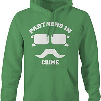 Shirts By Sarah Unisex Best Friend Couples Hoodies Partners In Crime Hipster Mustache
