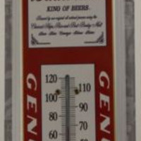 Budweiser World Renowned King Of Beers Metal Thermometer 17x5 TH981 Man Cave NEW