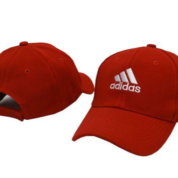 Red ADIDAS Embroidered Baseball cotton cap