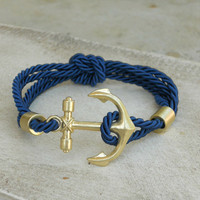Rope and Anchor Bracelet : Vintage Inspired Clothing & Affordable Summer Frocks, deloom | Modern. Vintage. Crafted.
