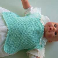 Hand Crochet-Precious Pinafore bib from 1931 vintage crochet Pattern