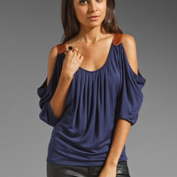 Akiko Open Shoulder Top in Twilight from REVOLVEclothing.com