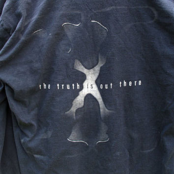 X Files Trust No One 1990s Vintage Longsleeve