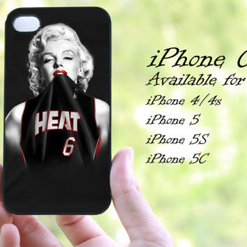 marilyn monroe basketball miami heat design iphone case for iphone 4 case, iphone 4s case, iphone 5 case, iphone 5s case, iphone 5c case