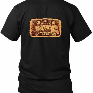 Nightmare Ouija Board 2 Sided Black Mens T Shirt