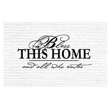 Bless This Home and All That Enter Inspirational Words Quote Home Decor Vinyl Wall Art Stickers Decals Graphics