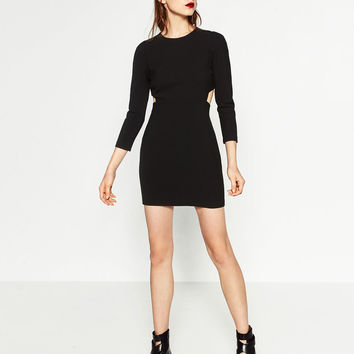 CUT - OUT SHIFT DRESS-DRESSES-WOMAN | ZARA United States