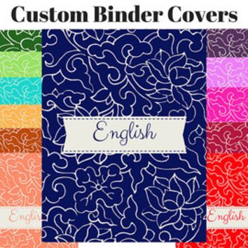 Printable Custom Floral Binder Cover Sets | Floral Binder Insert | Flower Binder Insert | Custom Printable Binder Cover | Teacher Journal
