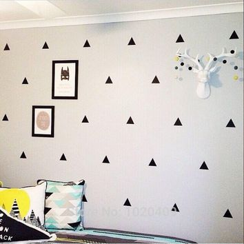 children sticker Nordic ins geometry Triangles sticker dot star pattern green PVC wall stickers 42pcs 21pcs lot
