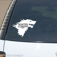 Game of Thrones Winter is coming Stark Wolf Car Decal
