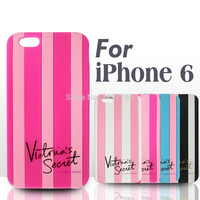 Victoria/'s Secret PINK Soft Silicon Stripe Luxury Case Cover Iphone6/6Plus