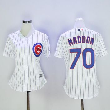 Chicago Cubs Women Jersey Joe Maddon Jerseys MLB Baseball Girl Pinstripe