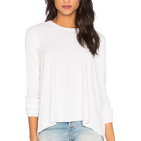 Wilt Cotton Cashmere Mixed Trapeze Sweater in White