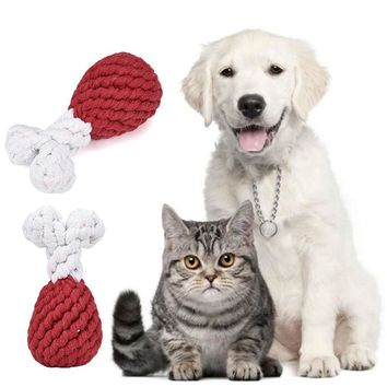 TAILUP Pets Accessories Puppy Dog Braided Animal Toy Chew Durable Dogs Pets Toys Chicken legs Drop Shipping 71128
