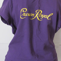 Purple Blouse Royal Crown Whiskey Lover Shirt Royal Crown Shirt Whisky Shirt