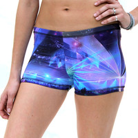 Limited Edition Women's Shorts in The Galactic Rave Print
