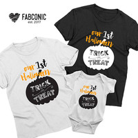 Our First Halloween, Halloween Family Shirts, Family Halloween, Halloween shirts, Family halloween shirts, Halloween mommy daddy baby