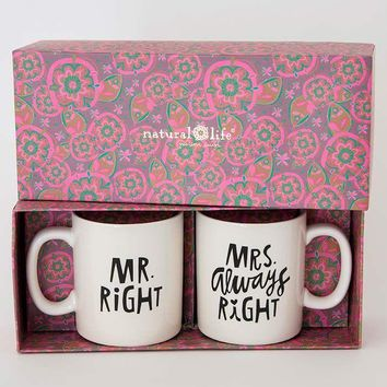 Mr. Right/Mrs. Always Right Set of 2 Mugs