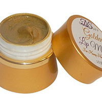 Golden Plumping Lip Mask With Vita-Marine Avocado, Argan oil, Caffeine and More! Diva Stuff Golden Beauty!