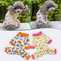 Pet Dog Clothes Pet Pajamas Cute Cotton Soft Warm Jumpsuit Puppy Nightwear Clothing For Dogs Ropa De Perros China Clothes