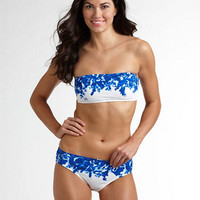 Floral Bandeau Swim Top | Lord and Taylor