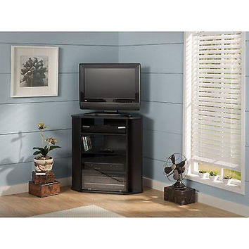 Bush Furniture Bush Visions Tall TV Stand in Black Cabinet Center Furniture New
