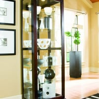 Chocolate Cherry Curio Cabinet by Pulaski Furniture