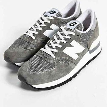 a5e9f0de5 New Balance Made In USA 990 Bring Back Collection Running Sneaker- Grey