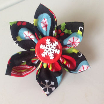 Christmas Ornaments Flower Collar Accessory for Female Dog and Cat