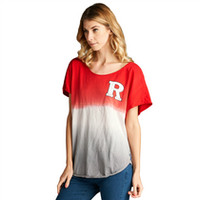 Barnes and Noble at Rutgers University Bookstore - Ombre Cut off Short Sleeve Jersey