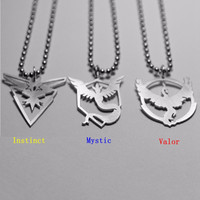 Stainless Steel Pokémon Go Logo Bead Chain