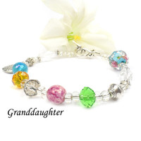 Special Gift for Granddaughter, Poem Bracelet, Birthday Christmas Present For Granddaughter C103