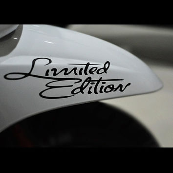 Car Stickers Limited Edition Car Motorcycle Reflective Stickers Waterproof Car Styling Stickers car accessories