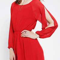 Urban Outfitters - Pins And Needles Long-Sleeve Cold Shoulder Dress