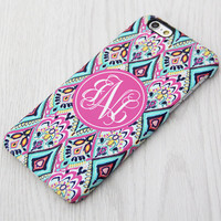 Ethnic Floral Monogram iPhone 6 Case iPhone 6 plus Case Custom Initial iPhone 5S Case iPhone 5C Case iPhone 4S Case Galaxy S6 S5 S4 Case 058