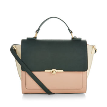 Forest Colour Block Handheld Bag | Multi | Accessorize