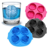 Silicone Brain Shape Ice Freeze Cube Tray Maker Mould Mold Bar Party Drink