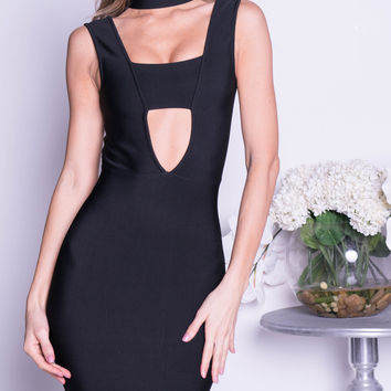 DARCY BANDAGE DRESS IN BLACK