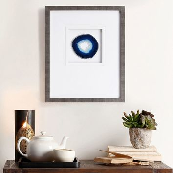 Madison Park Blue Agate Stone Framed Wall Art