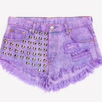 Treasure Lilac Studded Babe Shorts - Limited