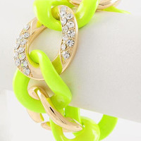 "30% off use promo code ""wanelo"" at checkout. Bright Idea Neon Yellow Bracelet"