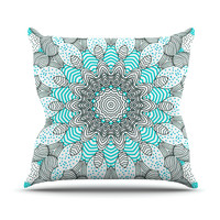 "Monika Strigel ""Dots and Stripes Mint"" Outdoor Throw Pillow"