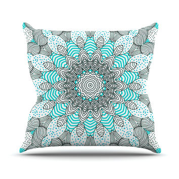 "Monika Strigel ""Dots and Stripes Mint"" Throw Pillow"