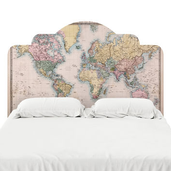 Vintage Map Headboard Decal