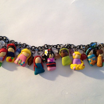 Disney Princess Charm Bracelet by CaitsCutzieCharms on Etsy