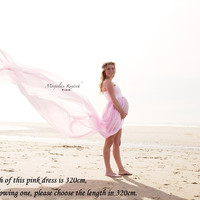 Split Front Chiffon For Maternity Photography Props Dresses for Photo Shoot