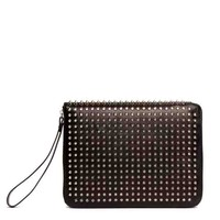 Buy Christian Louboutin Cris Studded iPad Case Silver from ShopHarper.co.uk