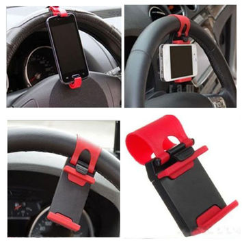 Universal Car Auto Steering Wheel socket navigate Case Holder Stand for iPhone